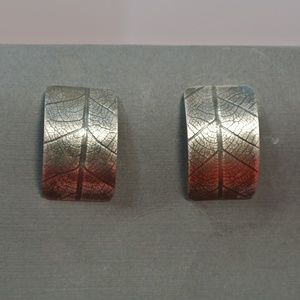Jewelry - Sterling Silver Kim Thompson Rectangle Leaf Studs